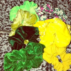 Cute green and yellow scruchies